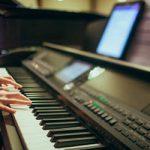 Oefenen op het keyboard